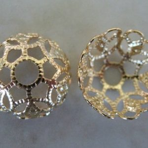 BEAD CAP CUPPED FILIGREE 12MM F961G