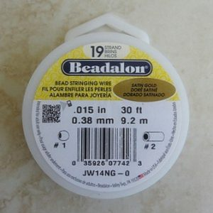 BEADALON 19 STRAND 0.38MM SATIN GOLD 9.2 MTR