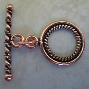 COPPER BALI TOGGLE CLASP 15.5MM