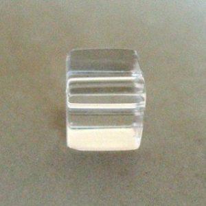 CZECH CLEAR GLASS CUBE 8MM BEAD