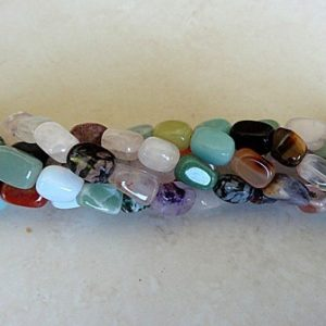 SMALL GEMSTONE NUGGETS MIXED 12X8MM PER STRAND