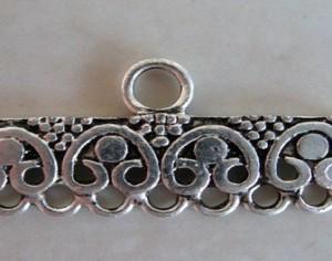 antiquesilheartsdotsendbar30x14mm7into1