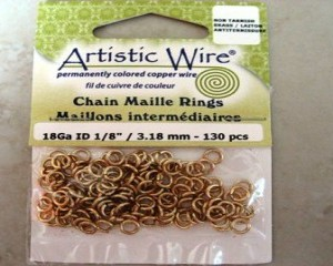 artisticwirechainmailleringsbrass318mm130pcs