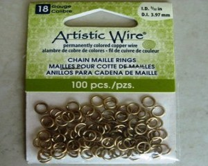 artisticwirechainmailleringsbrass397mm100pces