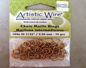 artisticwirechainmailleringsbrass556mm75pcs