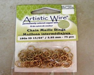 artisticwirechainmailleringsbrass595mm75pcs