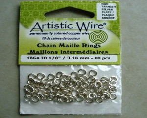 artisticwirechainmailleringssilver318mm80pcs