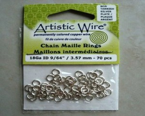 artisticwirechainmailleringssilver357mm70pcs