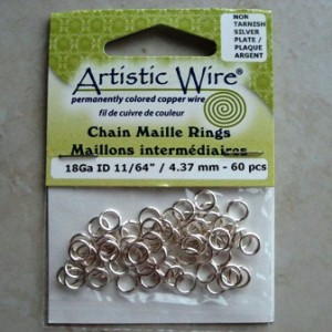 artisticwirechainmailleringssilver437mm60pcs