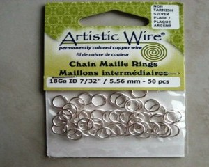 artisticwirechainmailleringssilver556mm50pcs