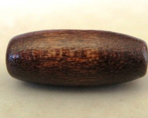 barrelwoodenbeadbrown7x15mm