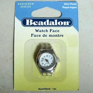 beadalonwatchfaceround3strandsilverplated