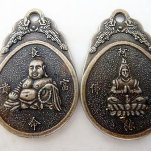 buddhadiety42x28mmpendantantiquebrass
