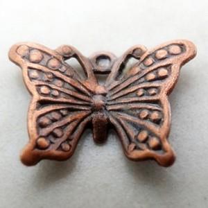 butterfly12x8mmantiquecoppercharm