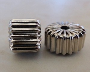 corrugatedbarrelnickelcolplated8x5mm