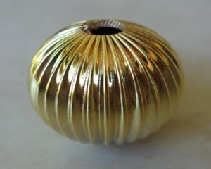 corrugatedroundgoldcolourplated