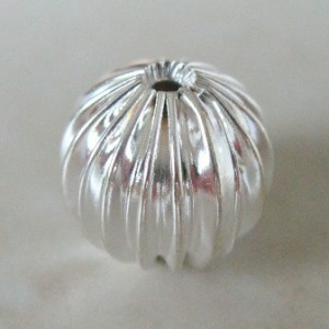 corrugatedroundsilvercolourplated