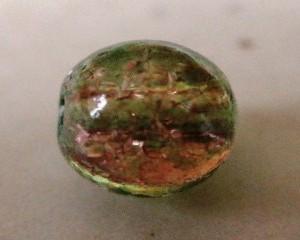 czechcrackleglassroundgreenbrown6mm
