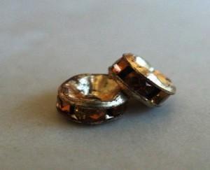 czechdiamanterondelletopazgoldplated5mm
