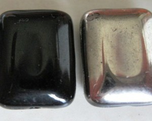 czechglassrectangleblacksilver15x10mm