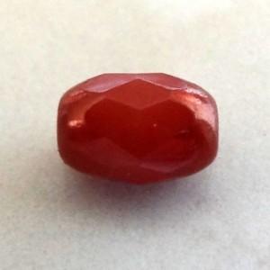 czechopaquemetallicindinanred6x4mmriceglassbead