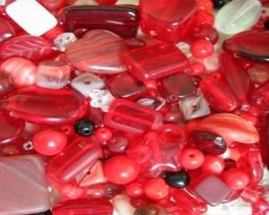 czechredglassbeadmixper10grams