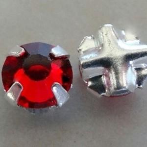 czechsiamrubycrystalmonteesilverplated4mm
