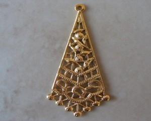 goldplrhombus44x20mmpair