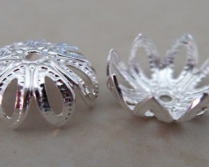 silverplatedcuppedbeadcap11mmf956s