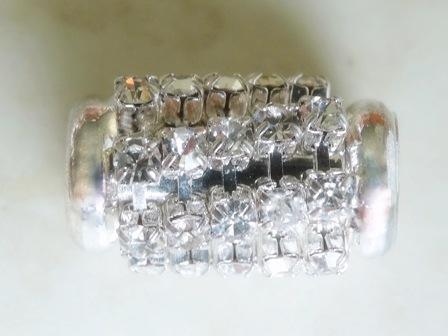 silvertubewithcrystaldiamantes16x10largehole