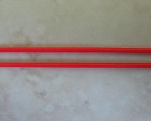 skinnyspaghettistretchplastictubingred1mmpermetre