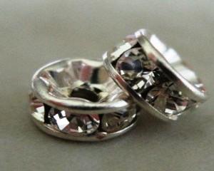 swarovskicrystaldiamanterondellesilverplcrystal