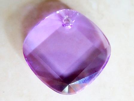 swarovski metro pendant square violet 25mm   bead emporium