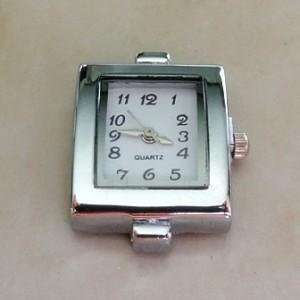watchfacerectanglesilvercolourplated1strand