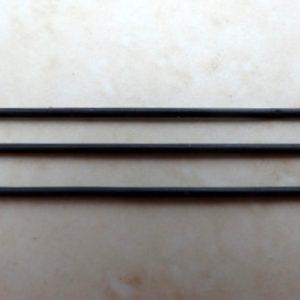 1MM ROUND BLACK SOLID RUBBER PER MTR