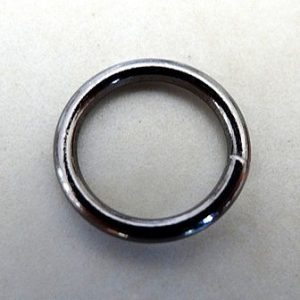12X1.1MM ANTIQUE (BLACK) PLATED JUMP RINGS PKT 20