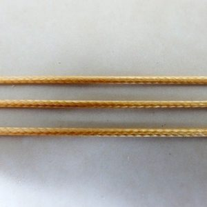 METALLIC GOLD WAXED COTTON CORD 1MM PER MTR