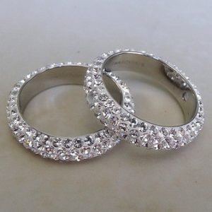 SWAROVSKI PAVE RING WHITE CRYSTAL 16.5MM 2 HOLES
