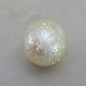 NATURAL GLASS FOIL PEARL 10MM
