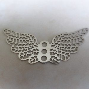 FILIGREE ANGEL WINGS 30X15MM SLV PL
