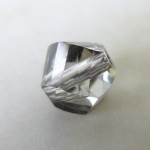 SILVER SHADE HELIX GLASS BEAD