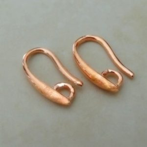 EAR WIRES (STYLISED) N.F. ROSE GOLD PR