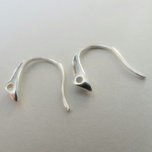 EAR WIRES (STYLIZED) STERLING SILVER 11MM PAIR