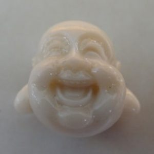 LAUGHING BUDDHA IVORY 20MM RESIN 3D 1