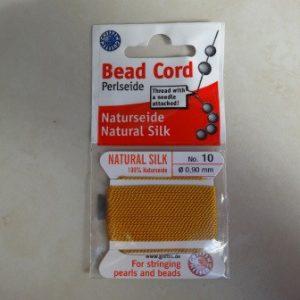 griffin-amber-silk-bead-cordneedle-2mtrs-no-10