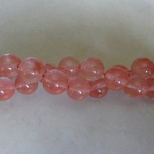 CHERRY QUARTZ ROUND 4MM GEMSTONE BEAD STRAND
