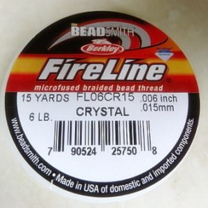FIRELINE CRYSTAL (WHITE) 0.15MM 15 YARDS 6 LB