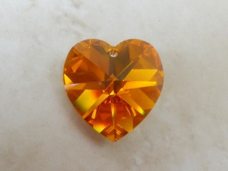 SWAROVSKI PUFFY HEART TOPAZ AB 18MM 6202