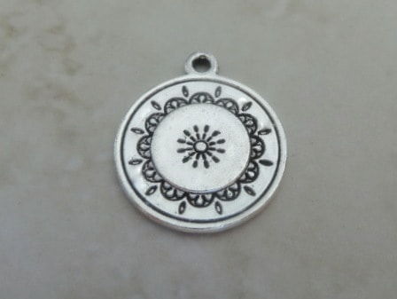 MORNING LIGHT CHARM ANTIQUE SILVER 20MM
