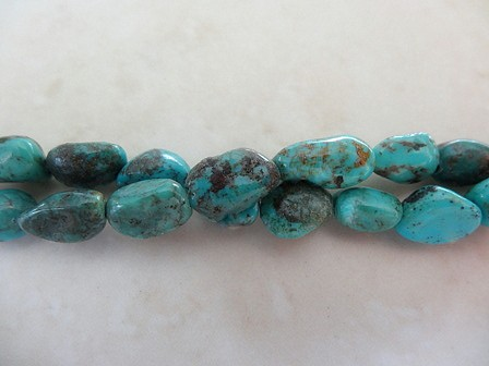 TURQUOISE SMALL NUGGETS 8MM GEMSTONE BEADS PER STRAND 2